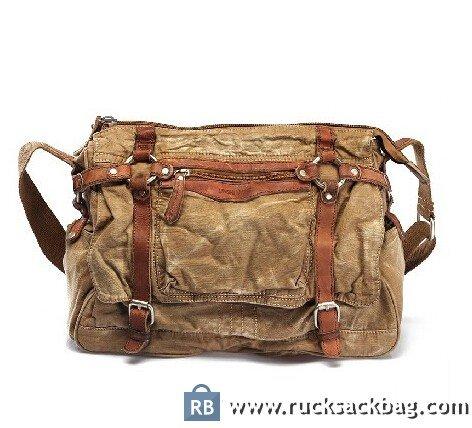 c8369f10d5 Canvas Shoulder Bag Men Canvas Cross Body Bag - Rucksack Bag