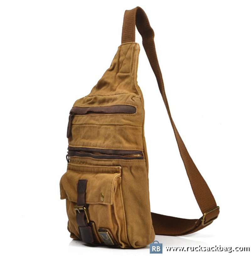 c124156cdcea4 Canvas Sling Bag Canvas Crossbody Bag Shoulder Bag - Rucksack Bag
