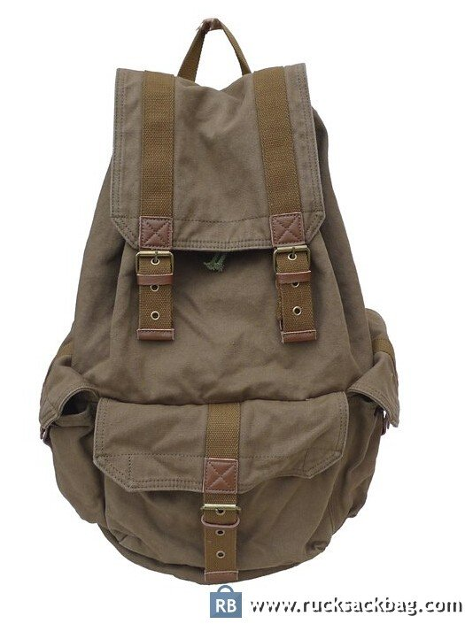 Mens Vintage Canvas Backpack Rucksack Hiking Backpack - Rucksack Bag 6c6ac7a39ce4