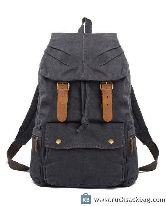 7fb9abdacbf0 Style Backpacks Men Canvas Backpack School Bag Hiking Bags ...