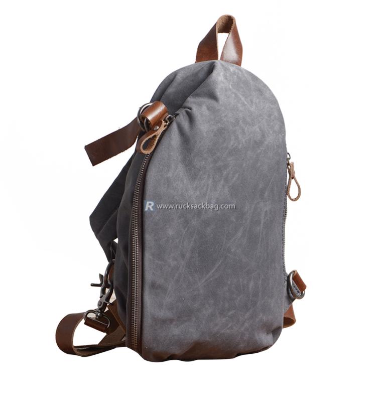 4b4fe258fd40 Waxed Canvas Sling Bag - Rucksack Bag