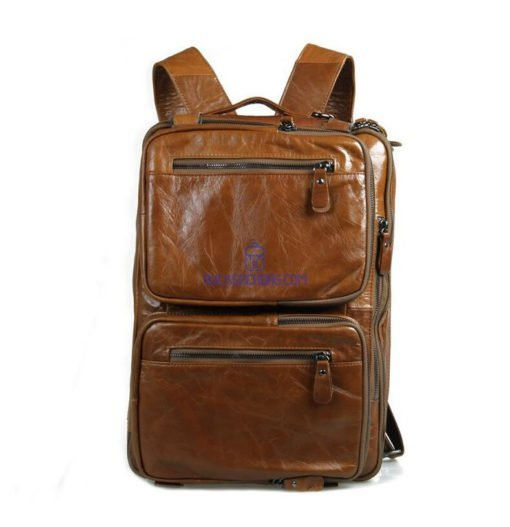 brown leather rucksack womens